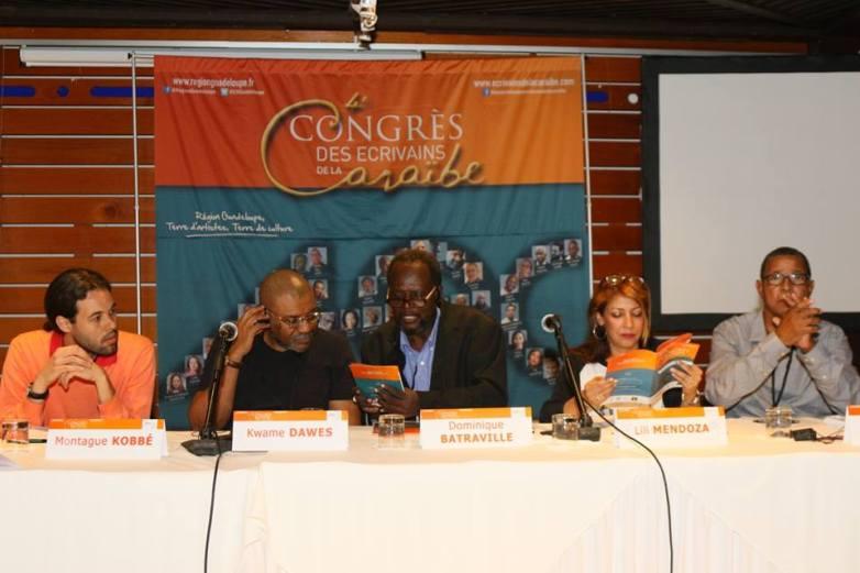 Panel: Kwame Dawes, Dominique Brataville y Lili Mendoza